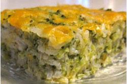 Broccoli cu orez și cașcaval