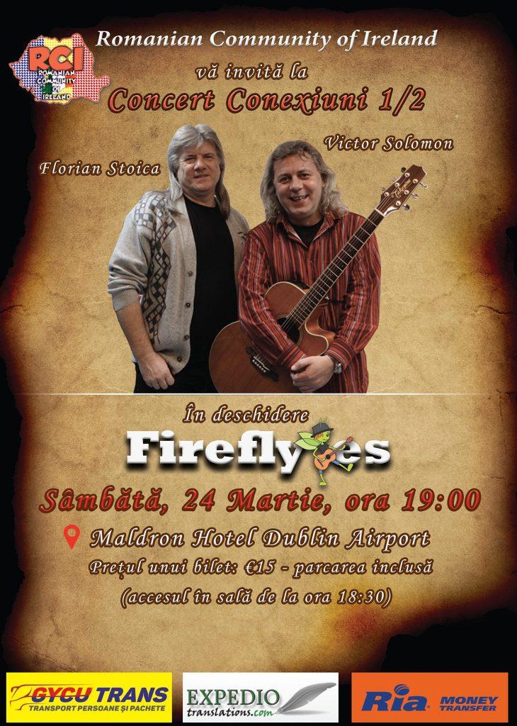 Spectacol Folk Conexiuni 1/2, în deschidere Fireflyes - Hotel Maldron Dublin Airport, 24 martie 2018