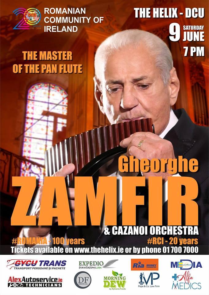 Concert extraordinar Gheorghe Zamfir și Orchestra Cazanoi, 9 iunie 2018, The Helix