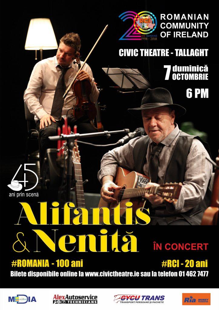 Concert extraordinar Nicu Alifantis și Mihai Neniță, 7 octombrie 2018, Civic Theatre