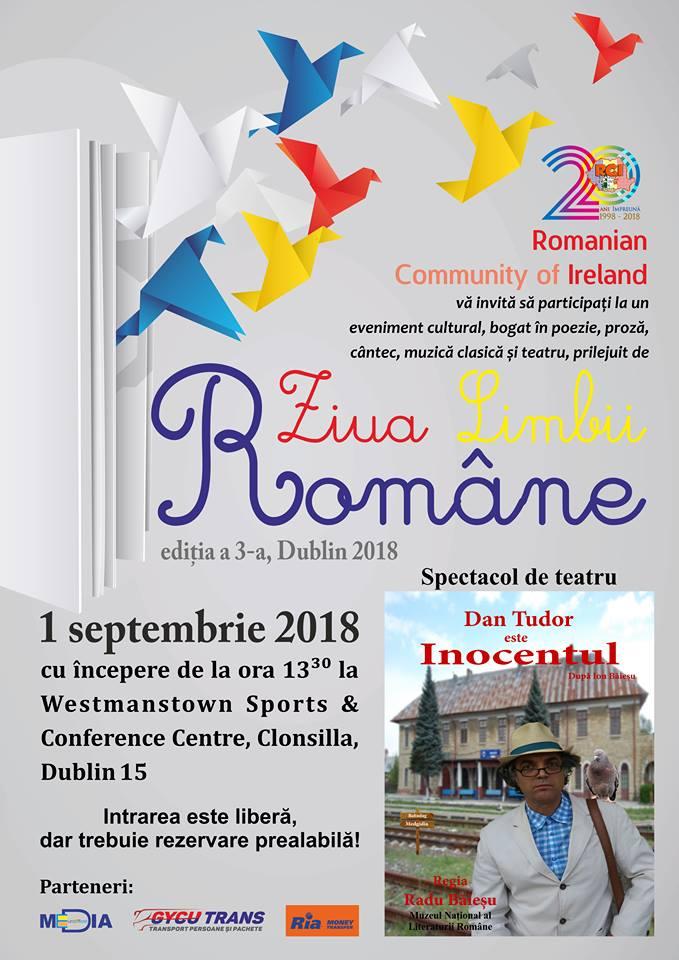 Ziua Limbii Române, ediția a III-a, 1 septembrie 2018, Westmanstown Sports & Conference Centre