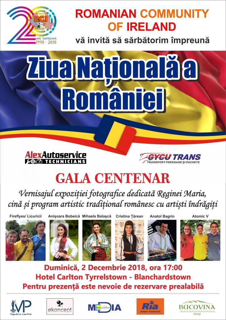 Ziua Națională a României – Gala Centenar, 2 decembrie 2018