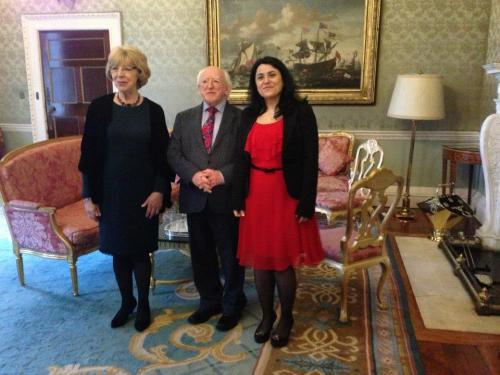 Invitație la Președintele Irlandei, reședința Aras An Uachtarain, 2013