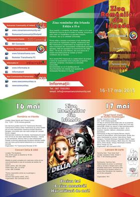 Ziua Românilor din Irlanda - 16-17 Mai 2015