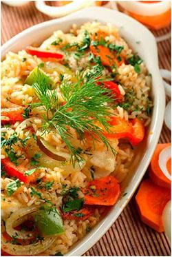 Mâncare de orez cu legume (de post)