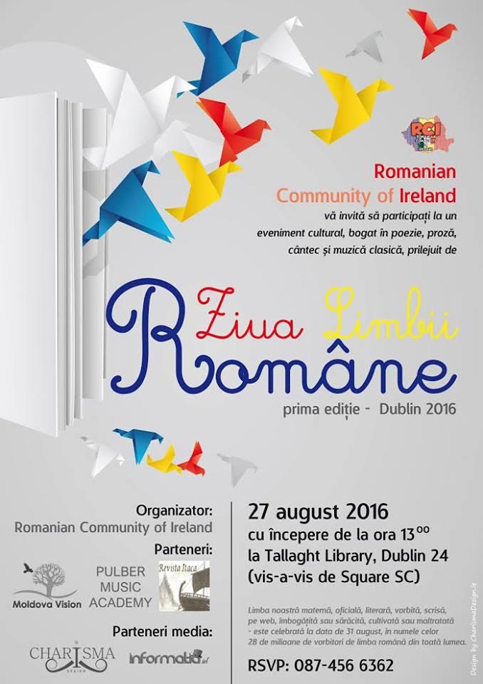 Ziua Limbii Române, 27 August 2016 - Dublin