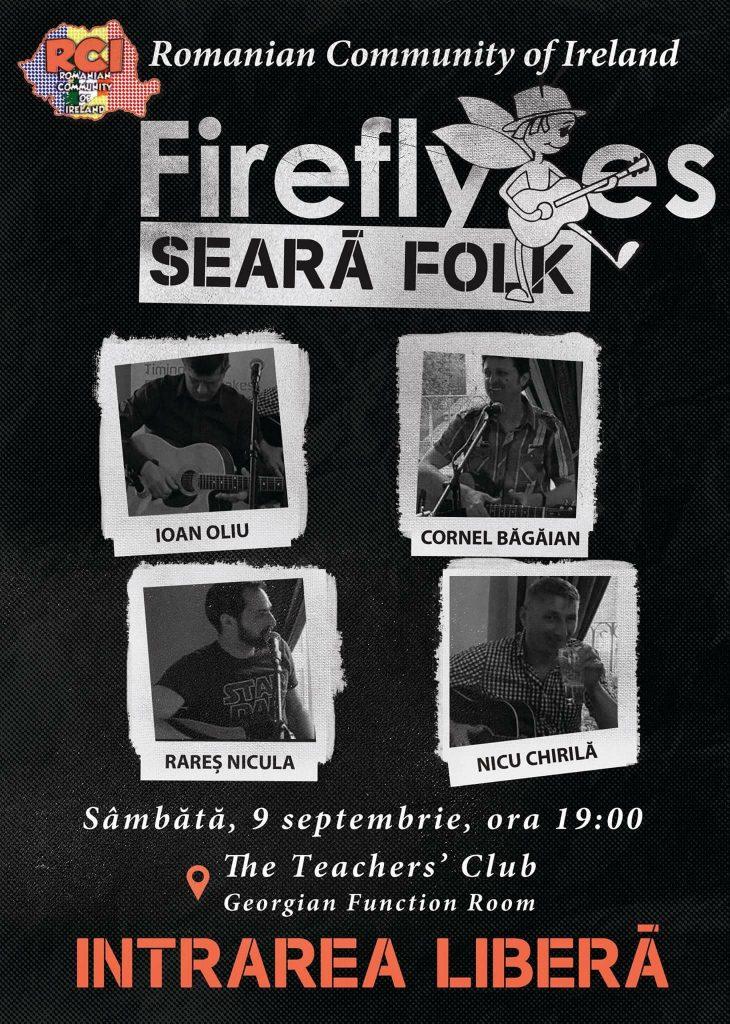 Lansare trupa de folk  Fireflyes (Licuricii) - Teachers Club Dublin, 9 septembrie 2017