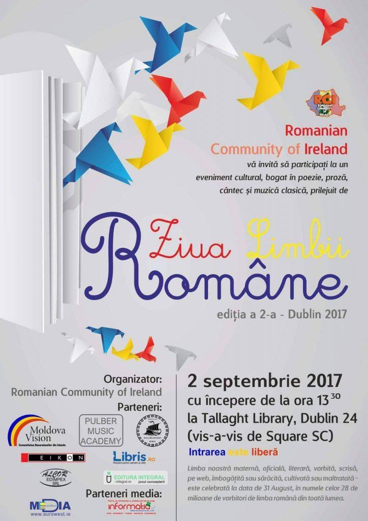 Ziua Limbii Române, Tallaght Library, 2 septembrie 2017