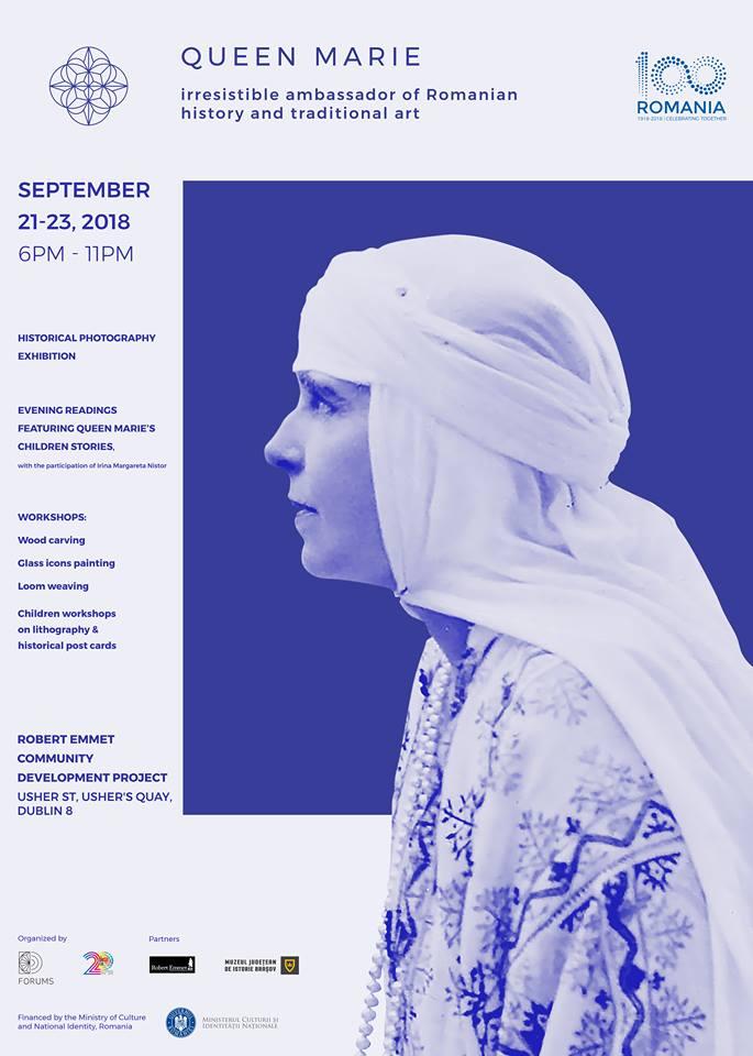 Regina Maria, expoziție de fotografie istorică, 21-23 septembrie 2018, Robert Emmet CDP